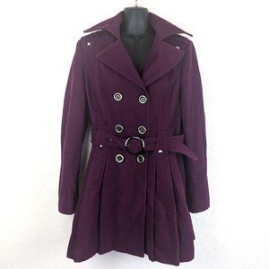 MISS SIXTY M60 Womens Wool Peplum Pea Coat